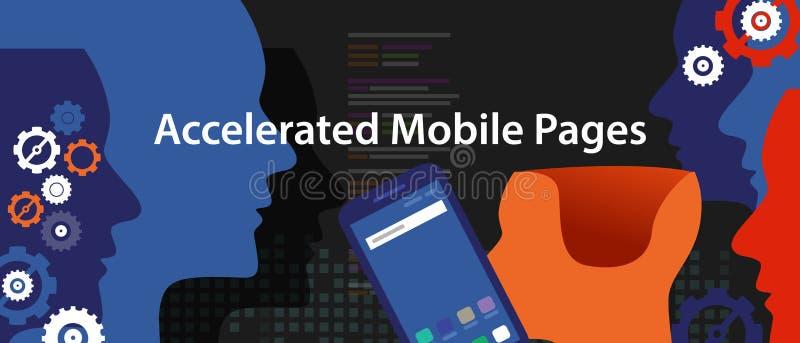 Páginas móveis aceleradas rapidamente no telefone esperto ilustração stock