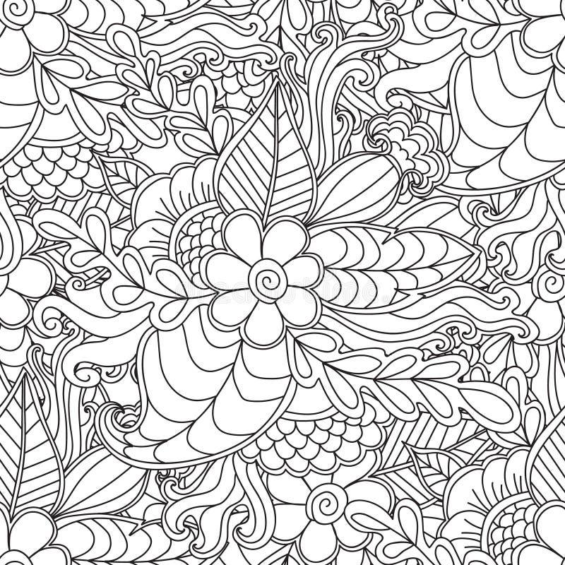Páginas Para El Libro De Colorear Adulto Dé El Marco Floral Modelado ...