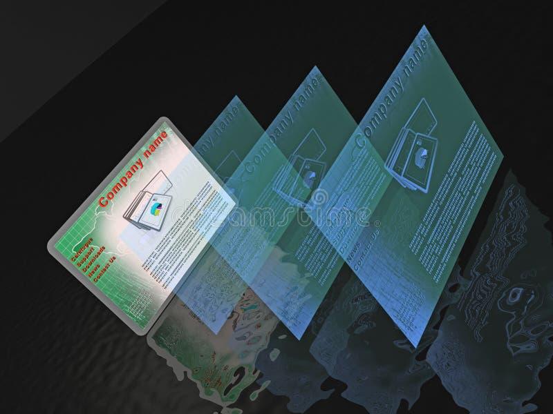 Páginas web ilustración del vector