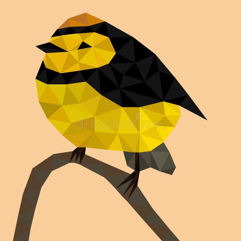 Pájaro amarillo del polígono libre illustration