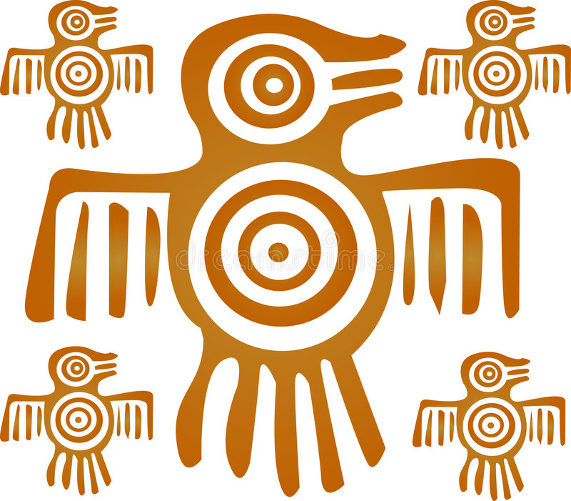 Pájaro azteca libre illustration