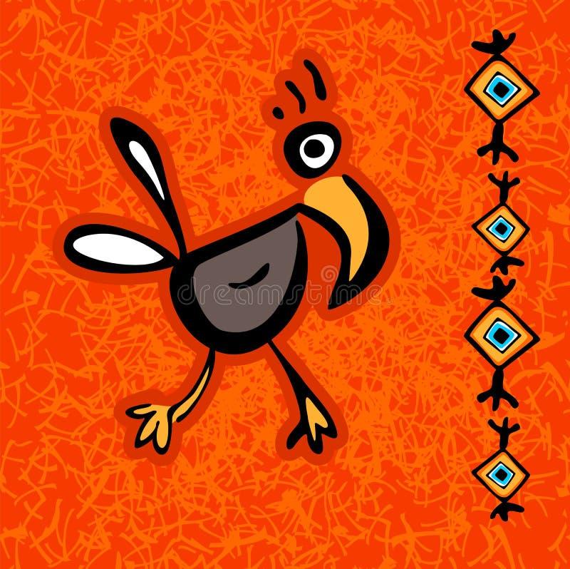 Pájaro azteca abstracto libre illustration