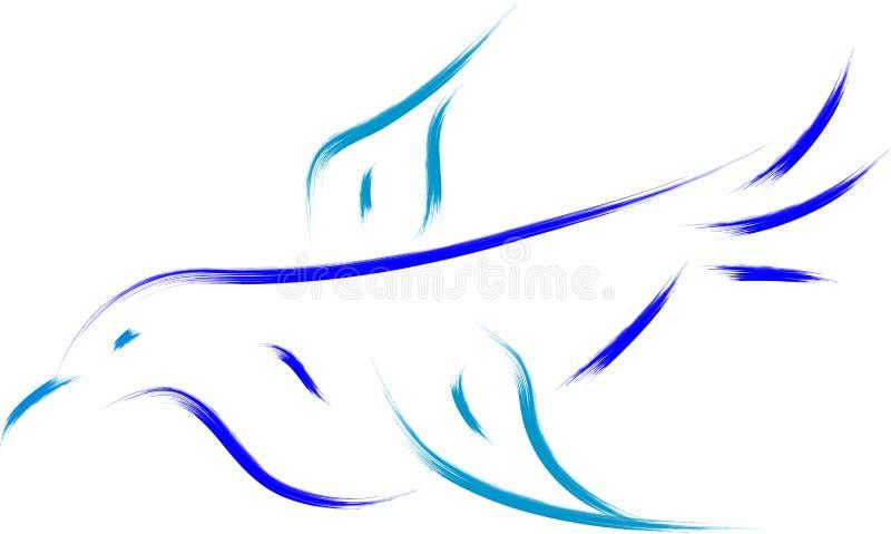 Pájaro azul ilustración del vector