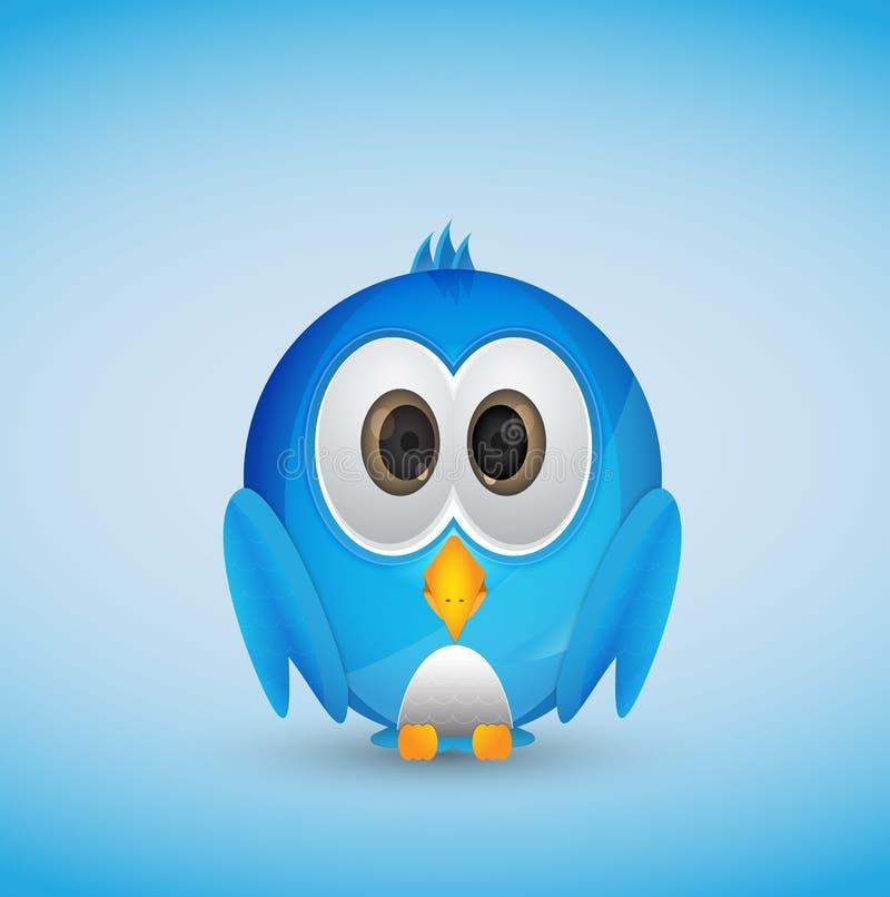 Pájaro azul del gorjeo stock de ilustración