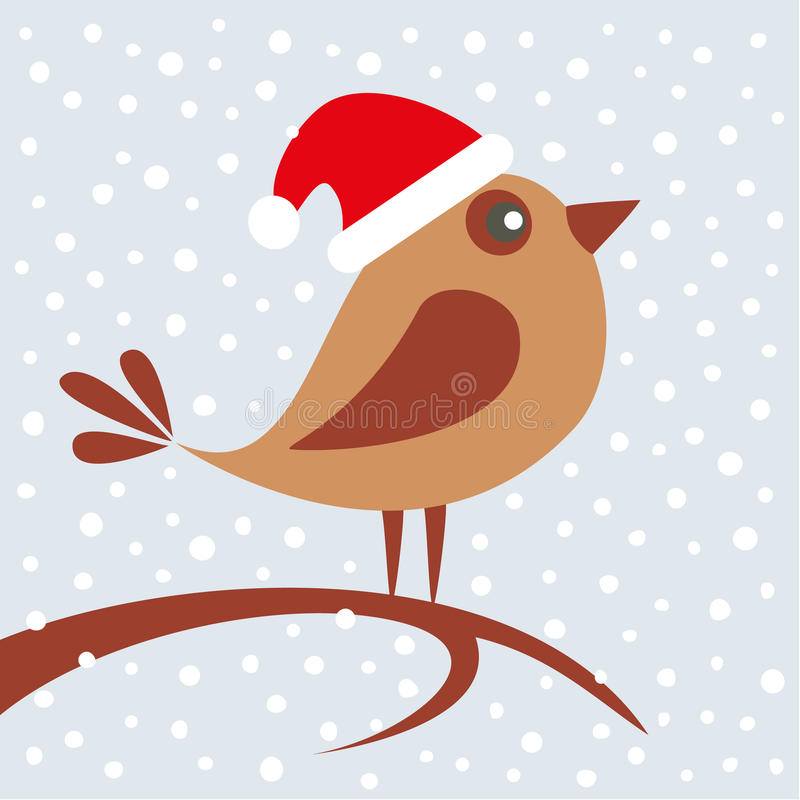 Pájaro con el sombrero ilustración del vector