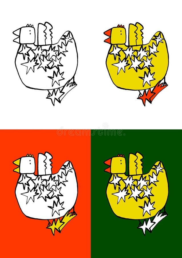 Pájaro-con-estrella imagenes de archivo