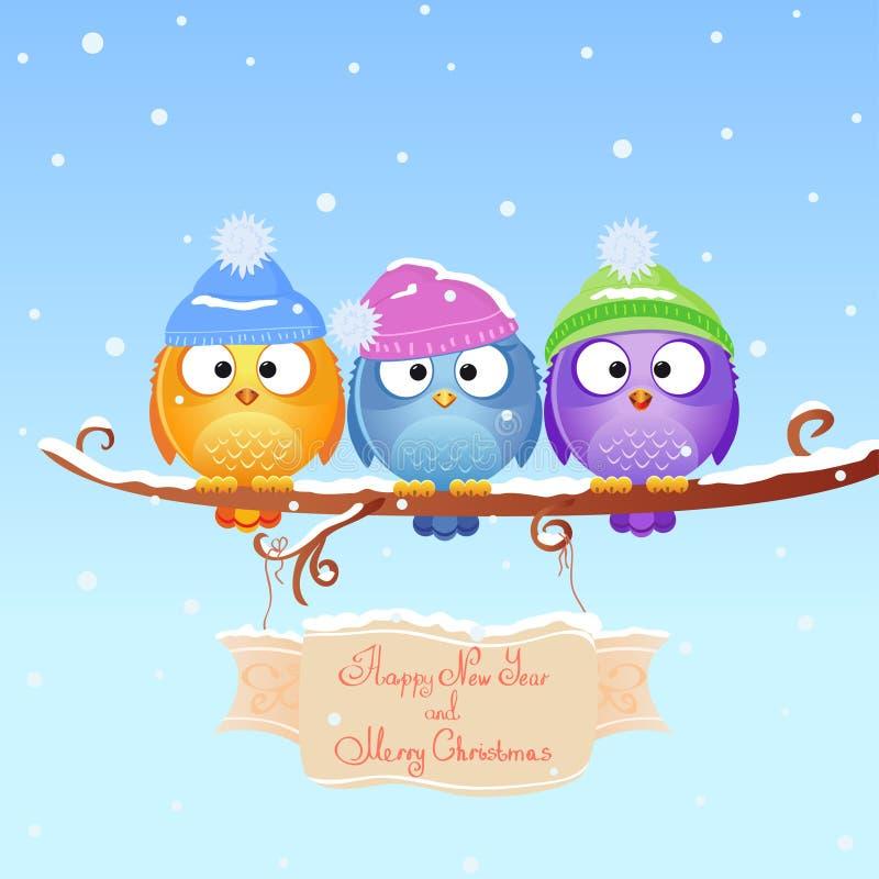 Pájaro de la Navidad stock de ilustración