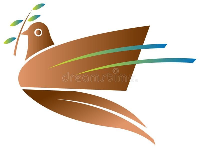 Pájaro de la paz ilustración del vector
