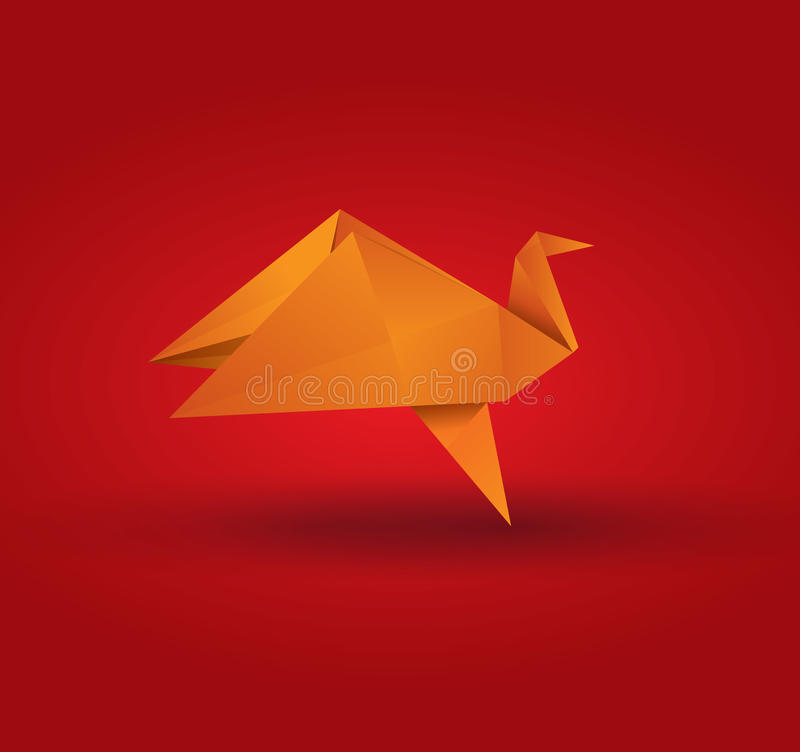 Pájaro de Origami ilustración del vector