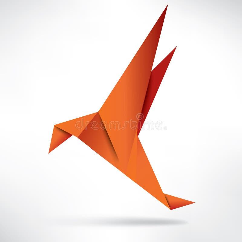 Pájaro de papel de la papiroflexia en fondo abstracto libre illustration