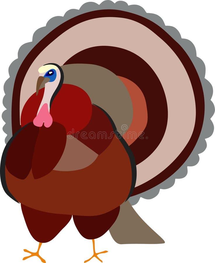 Pájaro de Turquía fuera de la estación de la acción de gracias ilustración del vector