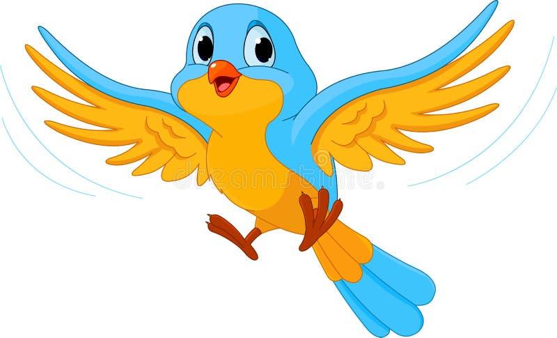Pájaro de vuelo stock de ilustración