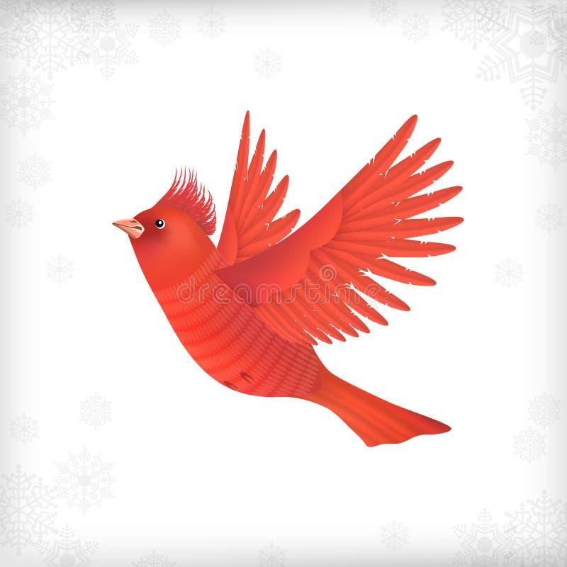 Pájaro de vuelo de la Navidad del invierno stock de ilustración