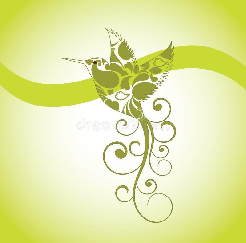 Pájaro decorativo del tarareo stock de ilustración