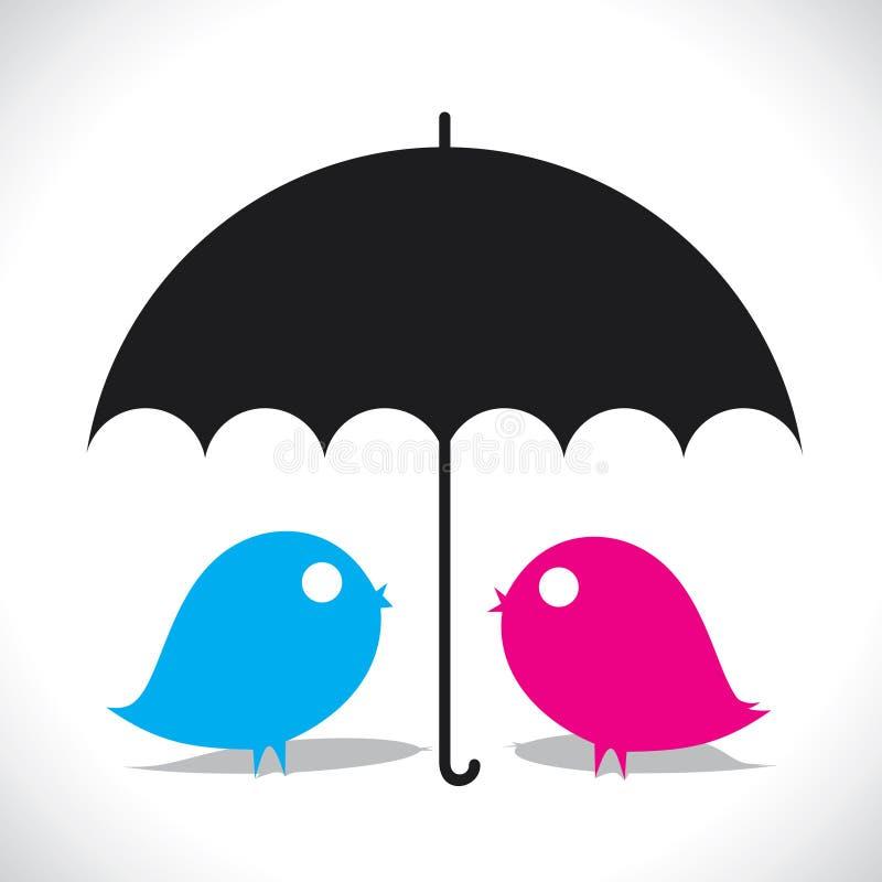 Pájaro del amante ilustración del vector