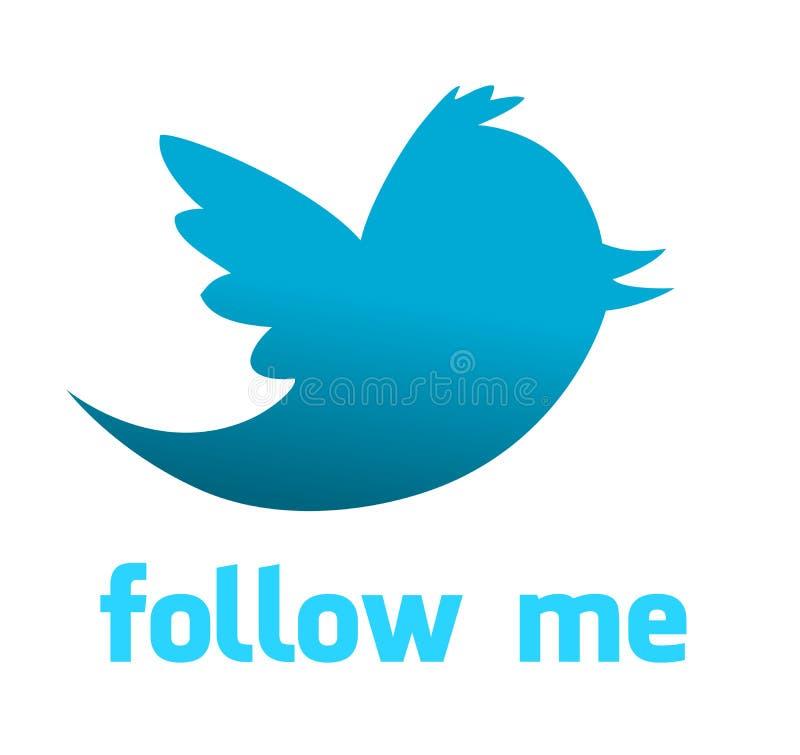 Pájaro del azul de Twitter ilustración del vector