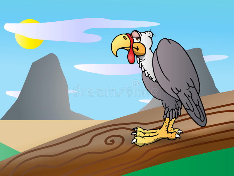 Pájaro del cóndor ilustración del vector