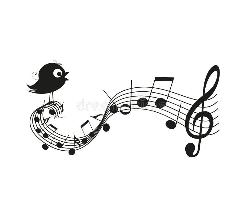 Pájaro del canto libre illustration