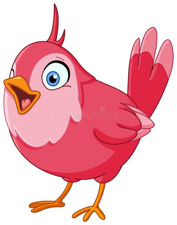 Pájaro del canto ilustración del vector