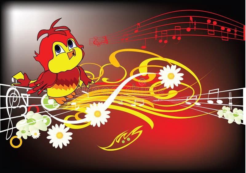 Pájaro del cartón ilustración del vector