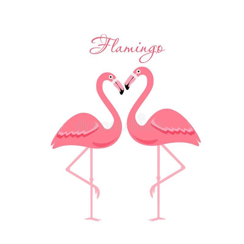Pájaro del flamenco de la historieta stock de ilustración