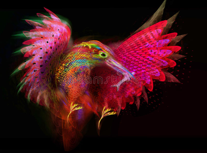 Pájaro del martín pescador Extracto libre illustration