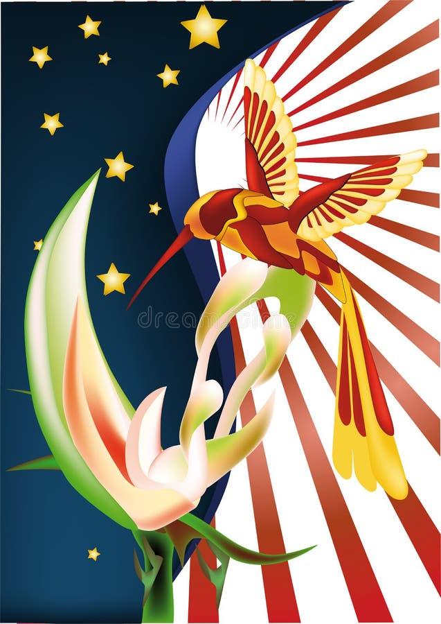 Pájaro del tarareo stock de ilustración
