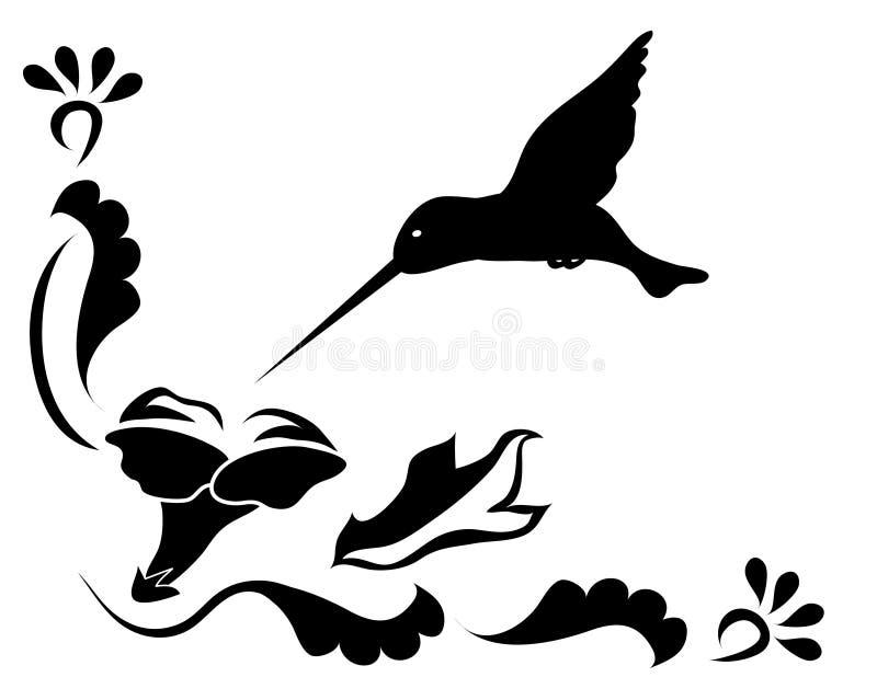 Pájaro del tarareo libre illustration