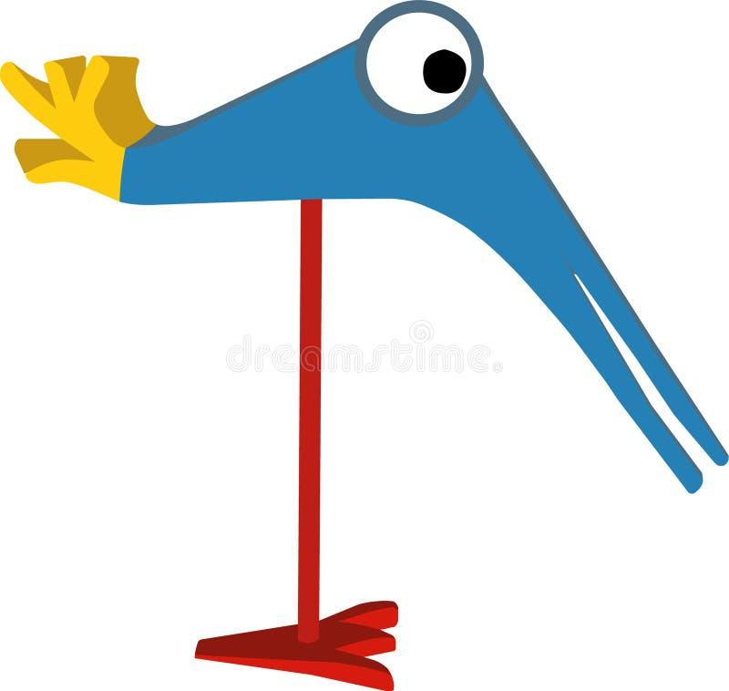Download Pájaro divertido ilustración del vector. Ilustración de ilustrado - 7279304