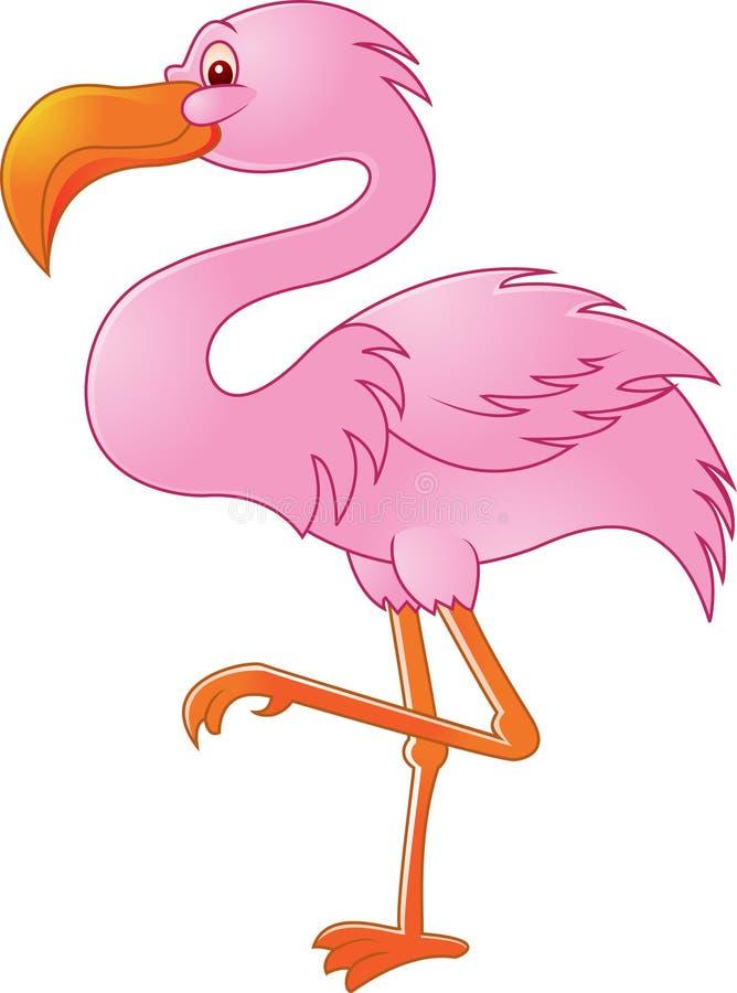 Pájaro divertido del flamenco ilustración del vector