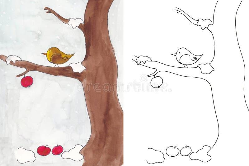 Pájaro en invierno foto de archivo libre de regalías