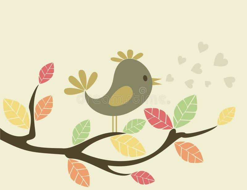 Pájaro en un tree3 libre illustration