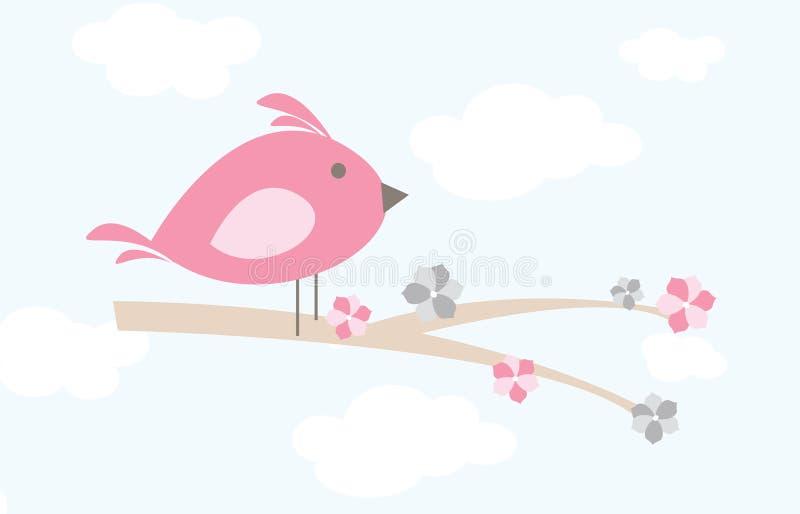 Pájaro en una rama libre illustration
