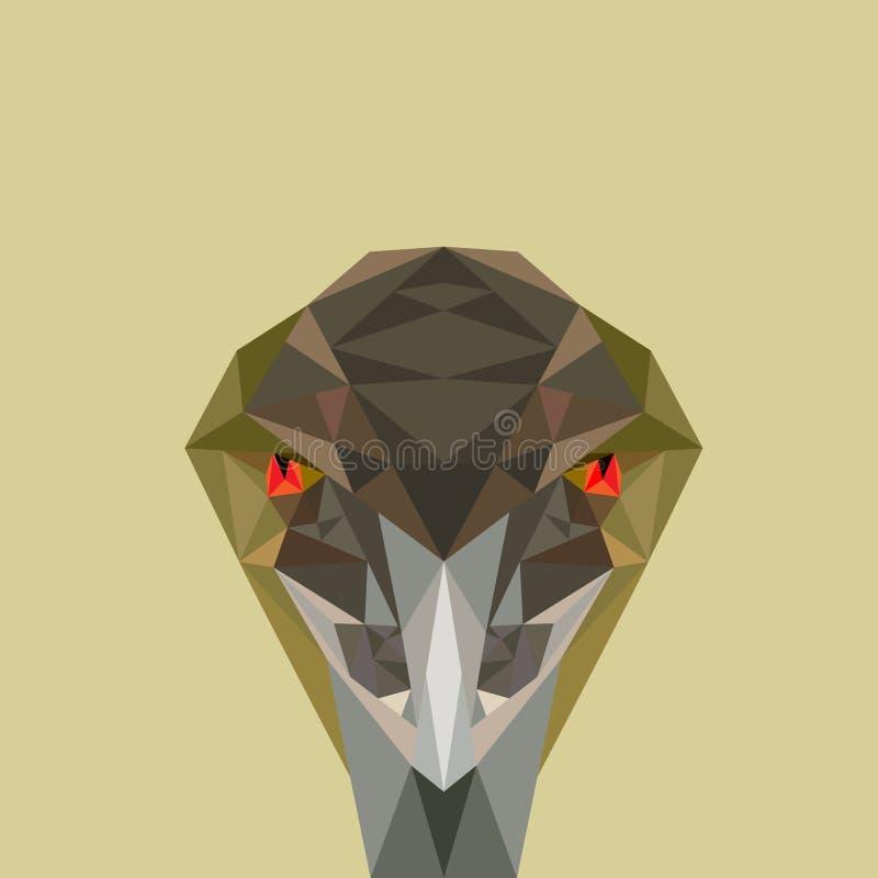 Pájaro enojado, ejemplo polivinílico bajo del vector stock de ilustración