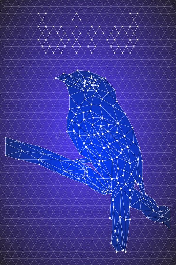 Pájaro geométrico foto de archivo libre de regalías