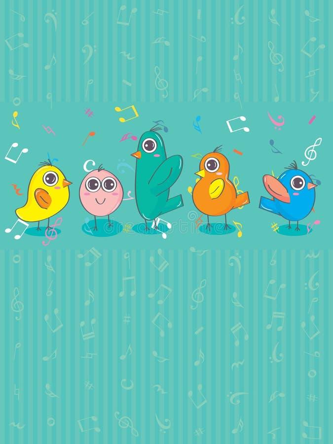 Pájaro Group_eps ilustración del vector