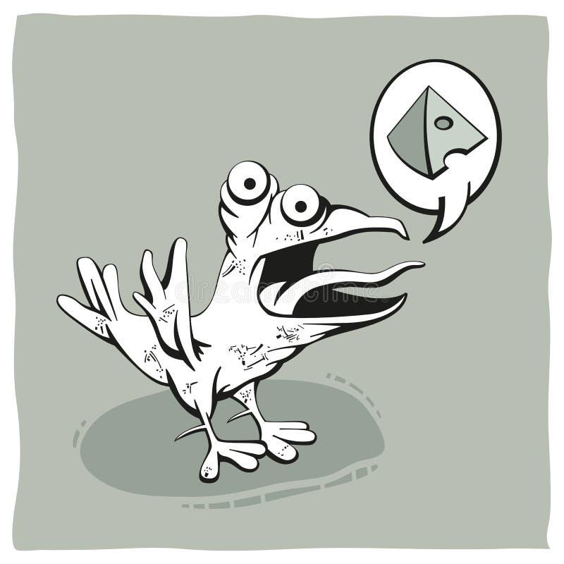 Pájaro hambriento stock de ilustración