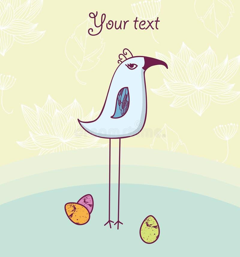 Pájaro lindo con los huevos fotos de archivo libres de regalías