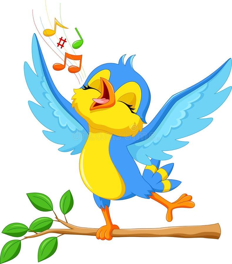 Pájaro lindo que canta stock de ilustración