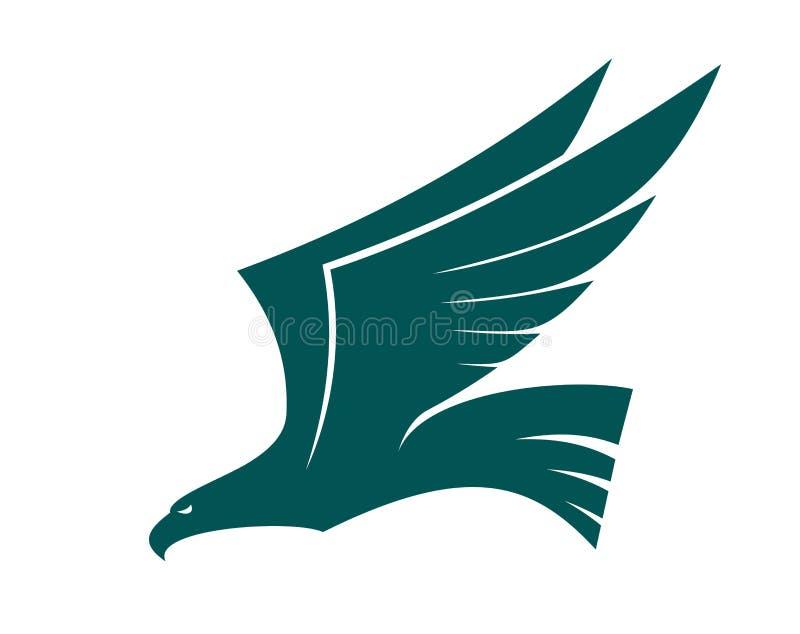 Pájaro majestuoso del halcón del vuelo ilustración del vector