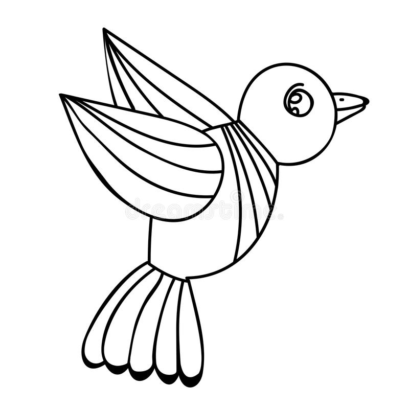pájaro para el adulto o libro de colorear y páginas del niño libre illustration