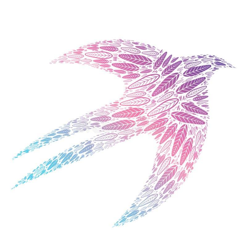 Pájaro-plumas stock de ilustración