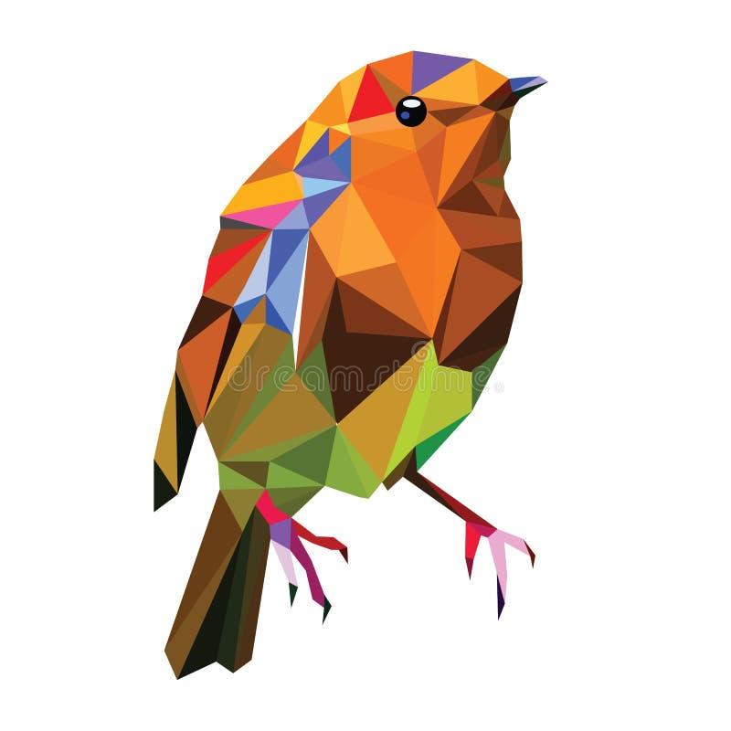 Pájaro polivinílico bajo ilustración del vector