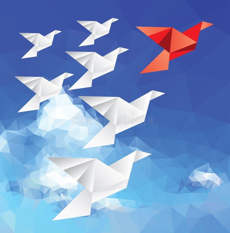Pájaro rojo del líder stock de ilustración