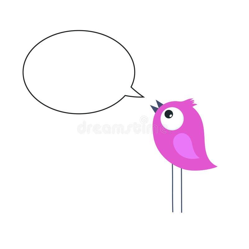 Pájaro rosado ilustración del vector
