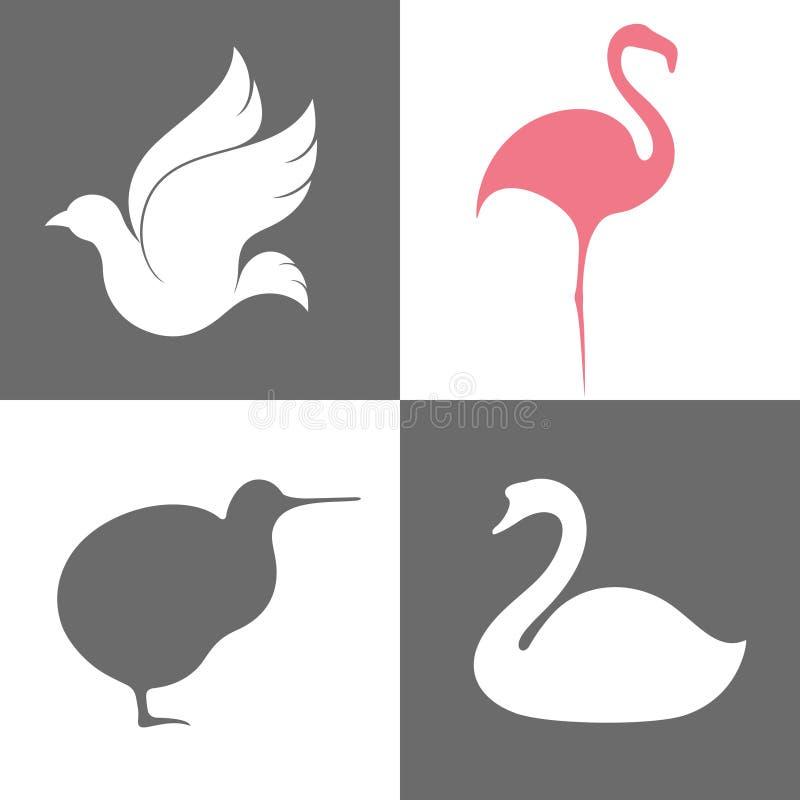 Pájaro. Sistema del icono libre illustration