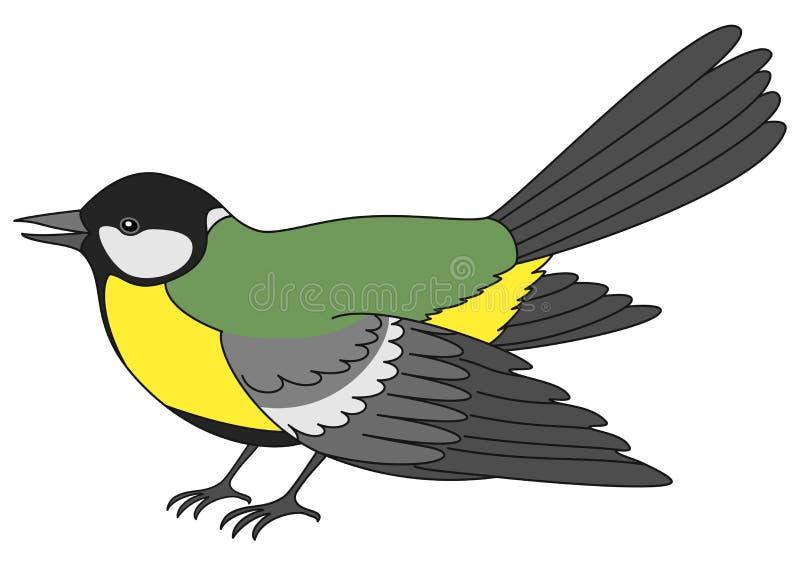 Pájaro un titmouse libre illustration