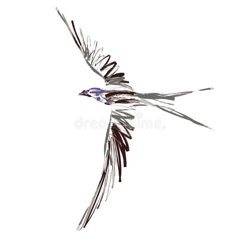 Pájaro (vector) stock de ilustración
