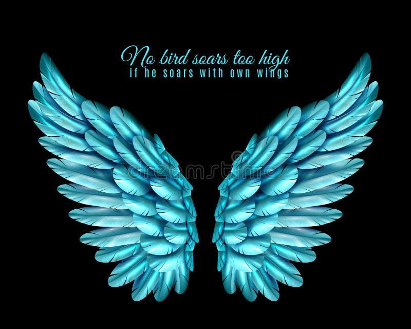 Pájaro Wing Background del color ilustración del vector