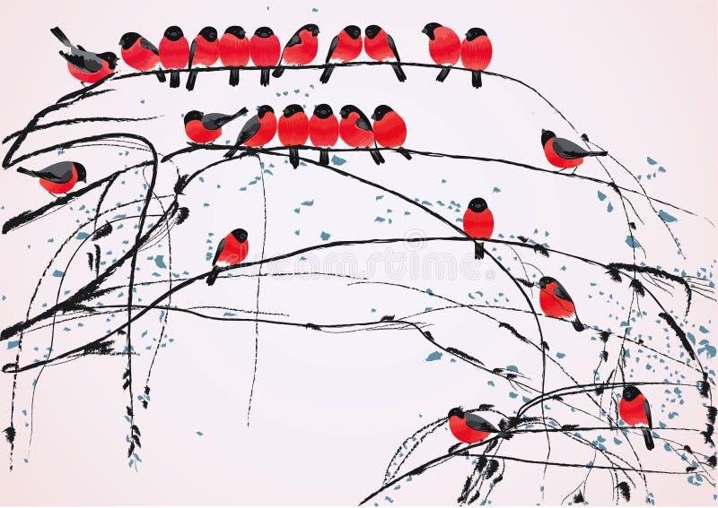 Pájaros ilustración del vector